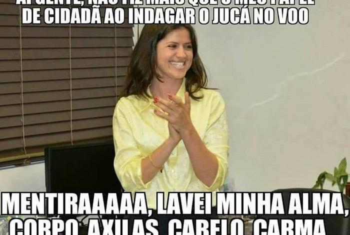 BRASIL Mulher que peitou Jucá vive fama