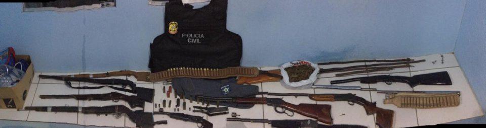 Ação da Polícia Civil apreende dez armas de fogo em Piranhas