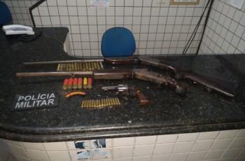 Trio suspeito de estuprar crianças é preso em posse de armas no interior de Alagoas