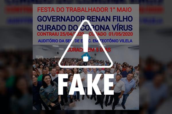 É FAKE! Governador de Alagoas não participou de evento em Teotônio Vilela neste 1º de maio