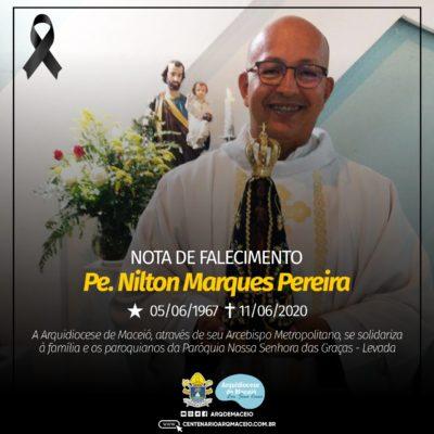 Padre Nilton Marques Pereira é mais uma vítima da covid-19 em Maceió