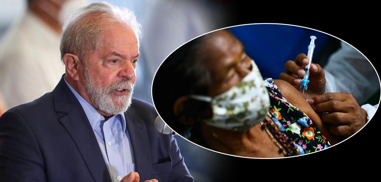 Lula: não sigam nenhuma recomendação imbecil do presidente, tomem vacina