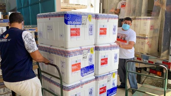 NESTA SEXTA AL recebe mais 81.550 doses de vacinas contra a Covid-19