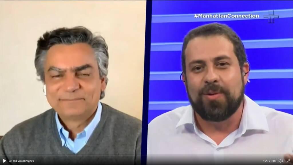 """Boulos dá invertida em Diogo Mainardi ao vivo: """"Tem obsessão por Lula""""; veja vídeo"""