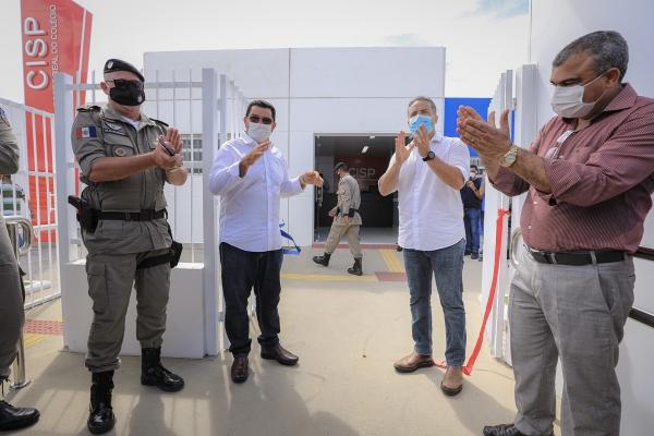 SEGURANÇA Governador inaugura CISP e anuncia convocação de 800 policiais militares