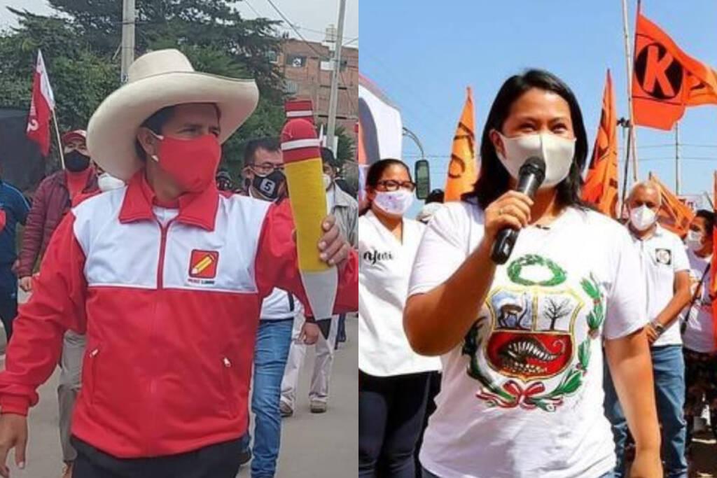 Eleições no Peru: 83,81% dos votos apurados, Keiko Fujimori tem 51,01% e Pedro Castillo 48,98%