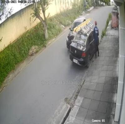 Homem escapar por 32 segundos de ser atropelado pelo secretário de Saúde de Santana do Ipanema