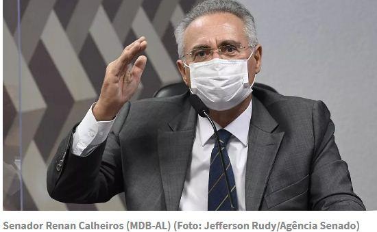 PF indicia Renan Calheiros por corrupção passiva e lavagem de dinheiro; senador vê retaliação de Bolsonaro