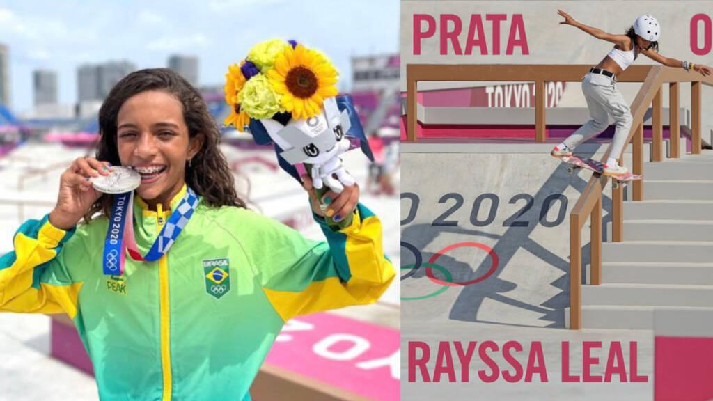 Aos 13 anos, Rayssa Leal é prata no skate; veja vídeo da manobra decisiva