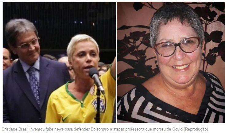 Para defender Bolsonaro, filha de Roberto Jefferson cria fake news e ataca professora que morreu de Covid